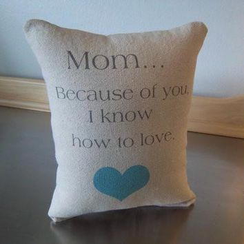 Mom pillow mother birthday gift throw pillow word art cushion gift