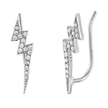 CZ Lightning Bolt Ear Climber