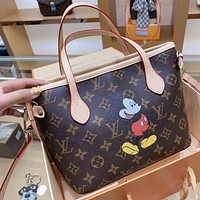 LV x DISNEY Joint Simple Simple Presbyopia Women's Handbag Shopping Bag Shoulder Bag