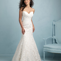 Allure Bridals 9210 Fit & Flare Lace Wedding Dress