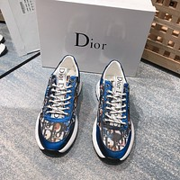 dior men fashion boots fashionable casual leather breathable sneakers running shoes 99