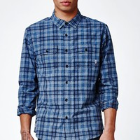 Cold Dip 7 Long Sleeve Button Up Indigo Blue Shirt