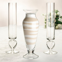 Glass Unity Sand Vase Set for Wedding Ceremony