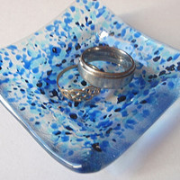 Jewelry Dish - Ring Dish - Colorful - Blue Ring Dish
