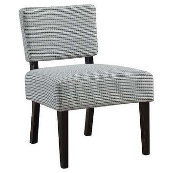"""27'.5"""" x 22'.75"""" x 31'.5"""" Blue, Grey, Foam, Solid Wood, Polyester - Accent Chair"""