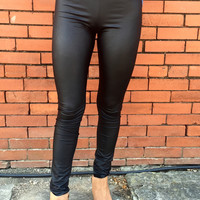 Haute to Trot Faux Leather Leggings