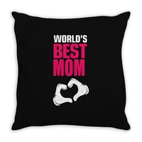 Worlds Best Mom Throw Pillow