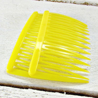 Vintage Yellow Hair Comb Set, GOODY Hair Combs, Plastic Hair Combs, Spring Summer Hair Combs, 1970s Vintage Hair Accessories for Girls Women