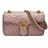 HPASS Classic Cross Body Bag NUDE PINK Shoulder Bag for Ladies Two Size(8.7x5.1x2.4inch/10.2x5.9x2.8inch)