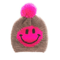 Woollysmile  Smiley Pink Sand Schurwoll-Strickmütze - What's new