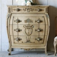 Eloquence One of a Kind Antique Bombe Chest Belle Europa