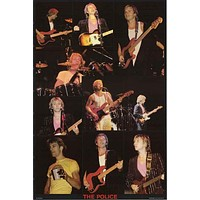 The Police Live 1980's Poster 23x35