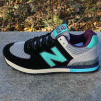 Women Men Casual Running NEW BALANCE Sport Shoes Sneakers Black rice lake color