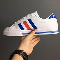 Adidas VS Advantage Neo Women Men Flat Blue&Red Line Shoes B-CSXY