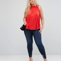 ASOS CURVE Swing Top with Ruched Neck at asos.com