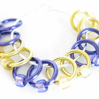 Extra Small Stitch markers for socks | Knit stitch marker | Stitchmarkers for socks | Gift for Knitters | purple and gold | #0545