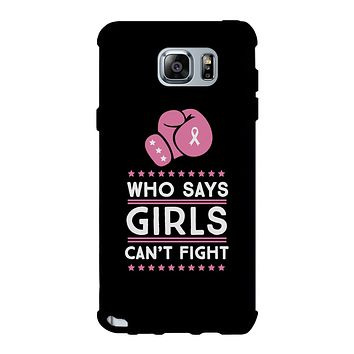 Who Says Girls Can't Fight Black Phone Case