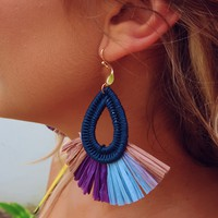 Giving In Earrings: Blue/Multi