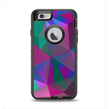 The Raised Colorful Geometric Pattern V6 Apple iPhone 6 Otterbox Defender Case Skin Set