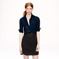 Crinkle boy shirt in Black Watch plaid - shirts & tops - Women's new arrivals - J.Crew