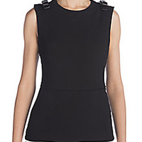 Fendi - Sable Leather-Trim Top - Saks Fifth Avenue Mobile