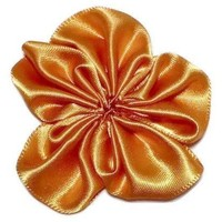 "Orange 1.5"" satin petal flower"