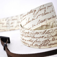 Canon Camera Strap - Antique Brown Script - Camera Straps for Nikon - Photographer Gifts