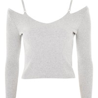 Knitted Strap Detail Top | Topshop