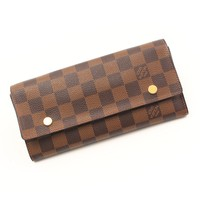 AUTHENTIC LOUIS VUITTON PORTEFEUILLE LONG WALLET N63093 MI2150 GRADE A USED -AT