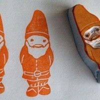 Gnup the Gnome - handcarved rubber stamp