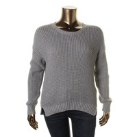 Two by Vince Camuto Womens Knit Ribbed Trim Pullover Sweater