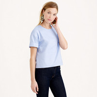 COTTON OXFORD CLOTH CROPPED TOP