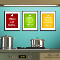Doctor Who Inspired Fruit Posters  Set of three by RisaRocksIt