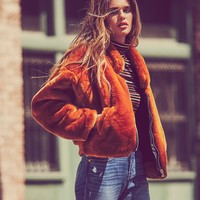 Free People Furry Bomber