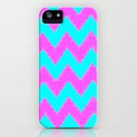 Mint and Pink chevron iPhone & iPod Case by  Alexia Miles photography