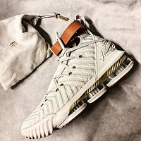 Nike Lebron 16 Buzz LBJ16 Fashion New Hook Women Men Sports Leisure Running Shoes Gray