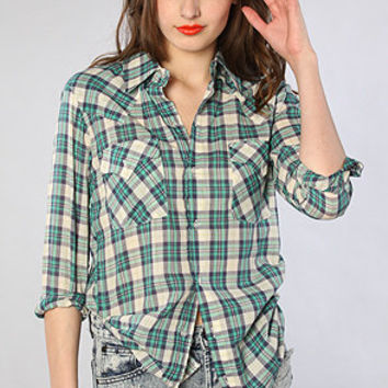 Washborn The Checkered Shirt in Green : Karmaloop.com - Global Concrete Culture