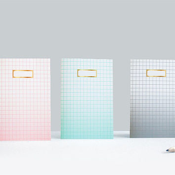 Pink Grid Notebook Ombre