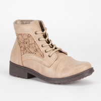 Qupid Missile Womens Shoes Taupe  In Sizes