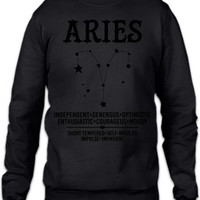 Aries Zodiac Sign Crewneck Sweatshirt