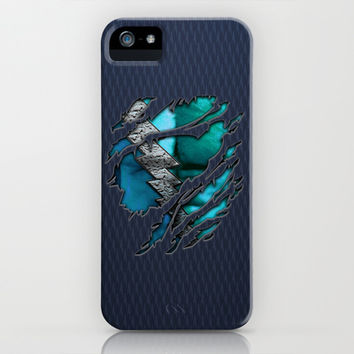 QuickSilver Chest Ripped Torn Blue teal tee tshirt apple iPhone 4 4s, 5 5s 5c, 6, iPod & samsung galaxy s4 case