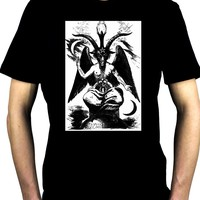 Original Baphomet By Eliphas Levi Men's T-Shirt Occult Satanic Ritual