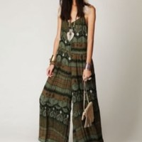 Free People Crinkled Sheer Printed Jumpsuit at Free People Clothing Boutique