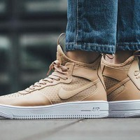 PEAP8KY Nike Air Force 1 Ultraforce Mid 864025-002 Khaki For Women Men Running Sport Casual Shoes Sneakers
