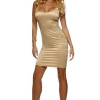 Sexy Fitted Empire Satin Prom Cocktail Party Club Mini Dress