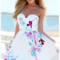 Sweet Dreams Floral Strapless Dress