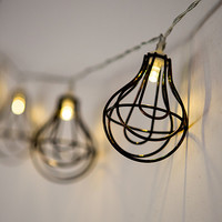 Industrial String Lights With Lightbulb Wire Cage