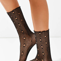Out From Under Glitter Fishnet Crew Sock - Urban Outfitters