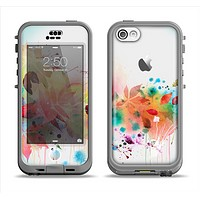 The Neon Colored Watercolor Branch Apple iPhone 5c LifeProof Nuud Case Skin Set