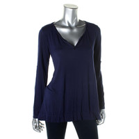 Studio M Womens Knit Solid Tunic Top